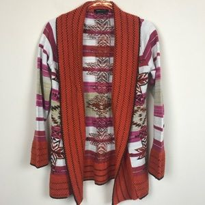 BCBG MaxAzria Tribal Open Front Sweater